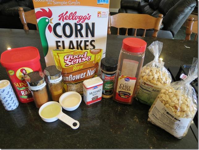 Corn Flakes Chivda prep
