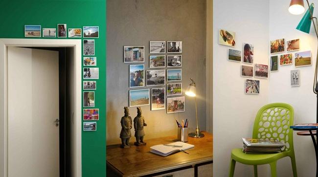 Decorar paredes com fotos sem usar pregos e furadeiras decorephoto