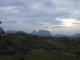 Bongkok, Parang and the Jatiluhur hills from the train to Bandung just before sunset (Dan Quinn, December 2012)