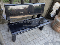 Park Bench with Polished Back, Absolute Black