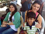 Reader V Arun Kumar sent us a picture of his son Atharva along with actress Kajal Agarwal at Nariman Point, Mumbai.</p>