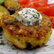 Chickpea and Tuna Cakes With Lemon Cream