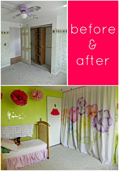 Daughter's Room Before and After