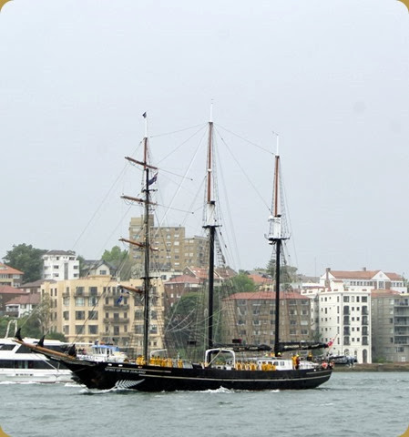 IFR - Tall Ships entering Sydney Harbour - Spirit of New Zealand