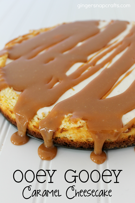 Ooey Gooey Caramel Cheesecake at GingerSnapCrafts.com #cbias #shop