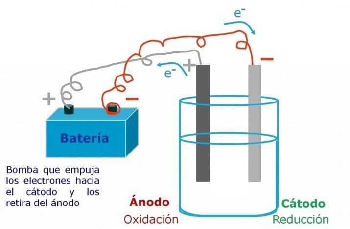 Partes de una celda electrolítica (2)