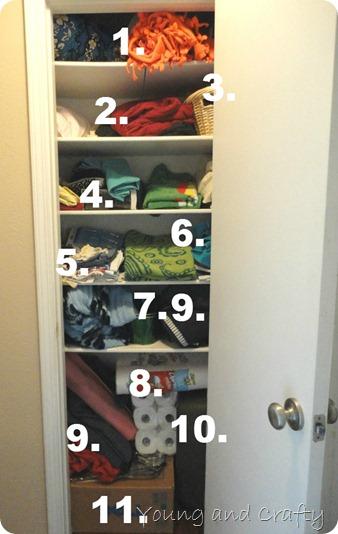 Linen Closet Numbers
