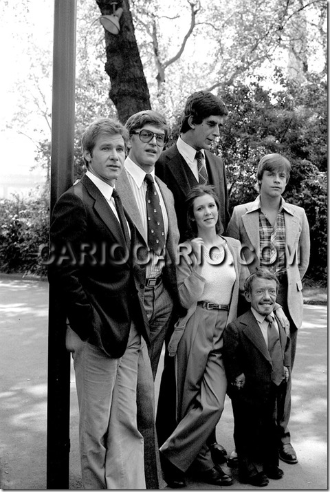 O elenco original de Star Wars