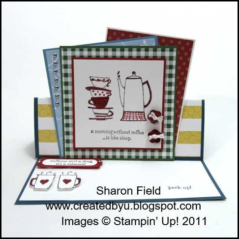 1.morning cup easel card sharon field