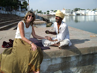 Hand painting by the lake - Pushkar