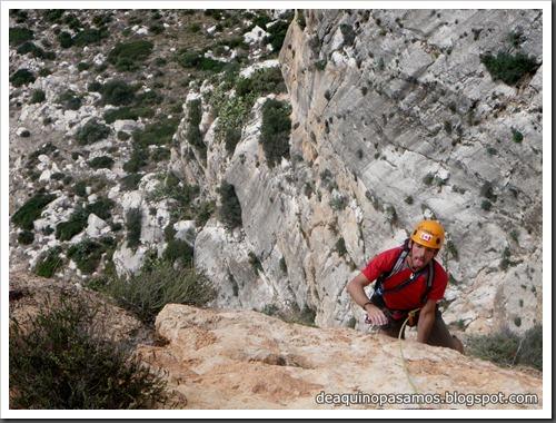 Via Costa Blanca 250m 6c  (6b A0 Oblig) (Peon de Ifach, Alicante) (Isra) 2457