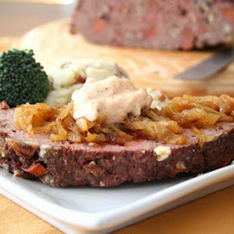 Andouille Beef Meatloaf with Cajun Mayo (Low Carb and Gluten-Free)