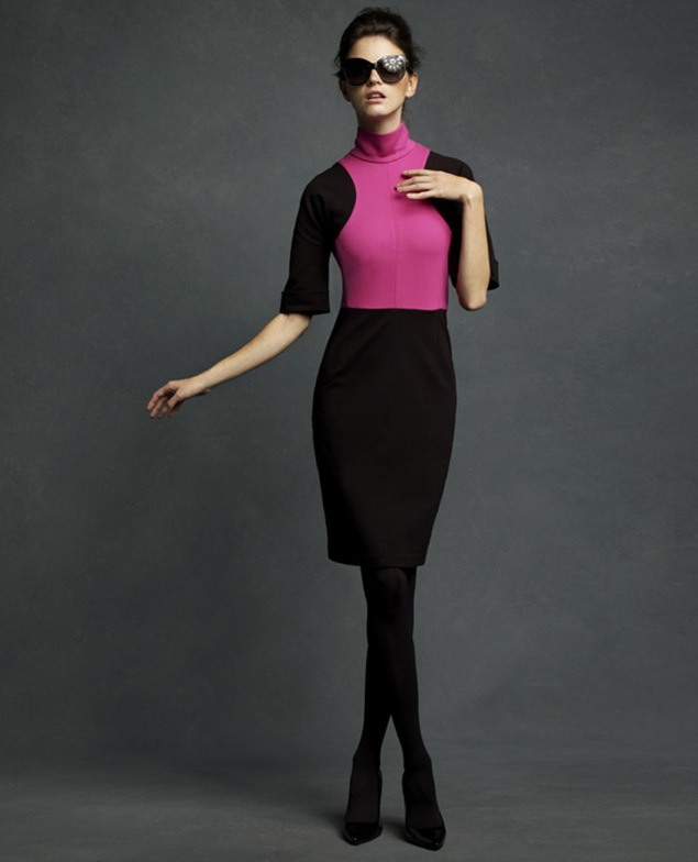 Karl-Lagerfeld-for-Impulse-only-at-Macys-Blk-and-Fushia-Dress-99