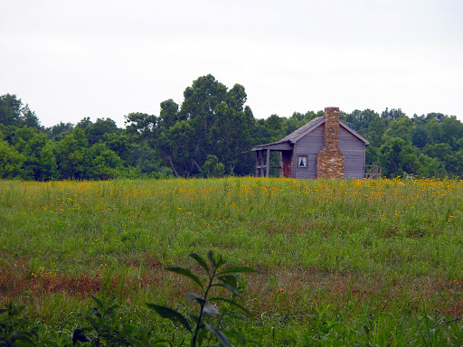 The Edwards cabin was the location of Confederate Maj. Gen. Sterling Price's headquarters. The Pulaski Arkansas Battery was located on a hill just northeast of this location. (Photo credit: Jeremy Shreckhise)
