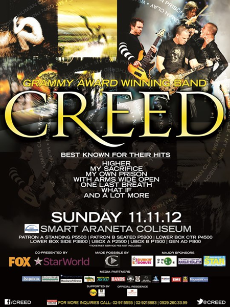 Creed Live in Manila