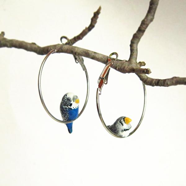 orecchini pappagallo