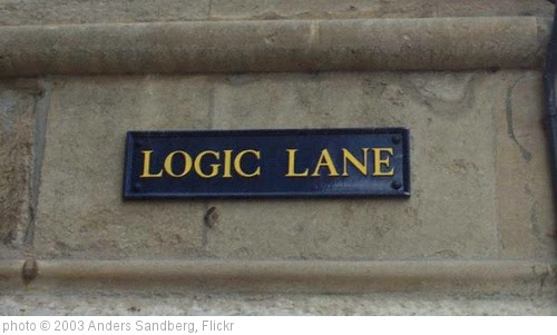 'Logic Lane' photo (c) 2003, Anders Sandberg - license: http://creativecommons.org/licenses/by/2.0/