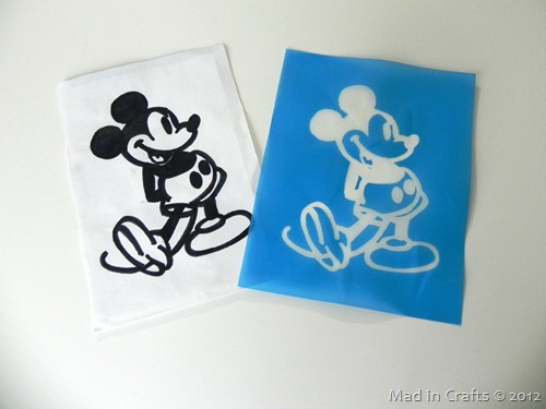 mickey silk screen