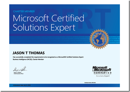 and i am a mcse in bi sqljason some random thoughts