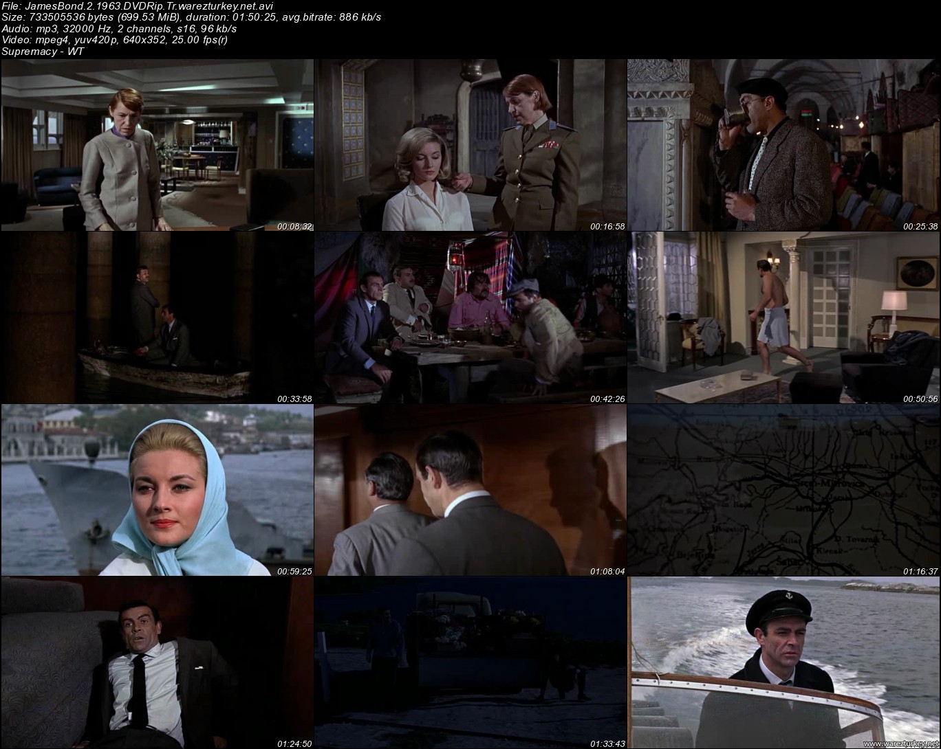 007 James Bond Serisi 1962-2008 DVDRip XviD - Türkçe Dublaj Tek Link indir