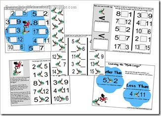 FREE PRINTABLES- Crocodiles eat the Biggest math worksheets for elementary from Living Life Intentionally