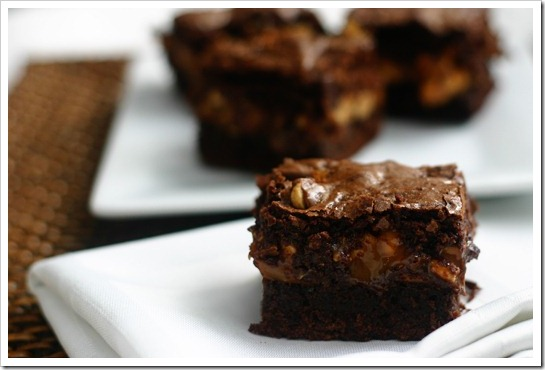 Chewy, Fudgy Triple-Chocolate Brownies