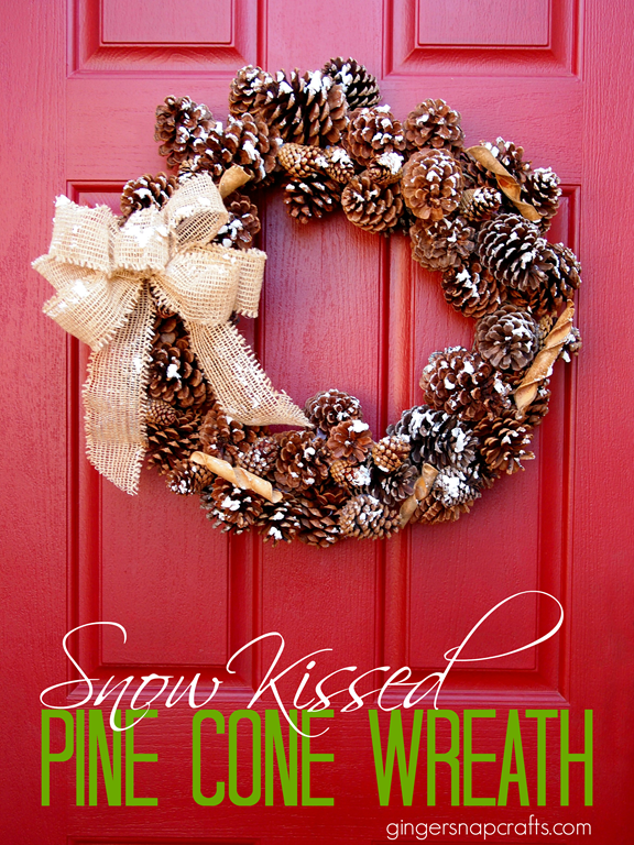 Snow Kissed Pine Cone Wreath with DecoArt Snow-Tex