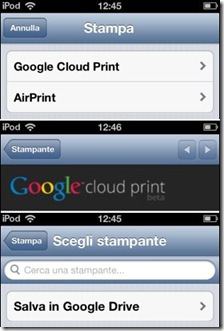 Chrome Stampante Salva in Google Drive