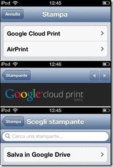 Chrome Stampante Salva in Google Drive