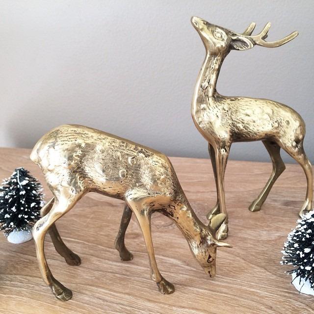 thriftscorethursday lightglassandtrend brass deer