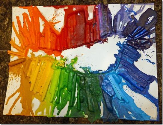 Melted Crayons Bird
