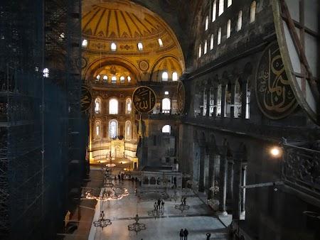 Obiective turistice Istanbul:. Catedrala Sf. Sofia - interior