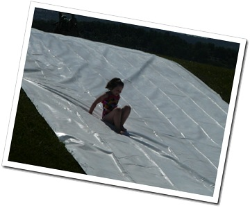 Enjoying the slip-n-slide