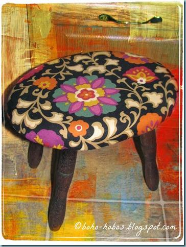 suzani stool