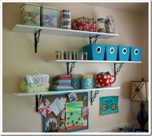 Sewing Room Shelving
