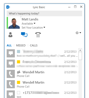 Matt Landis Windows PBX & UC Report: Microsoft Lync 2013 Client ...