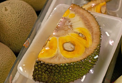 Sliced jackfruit