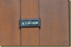 Lincoln Door Label
