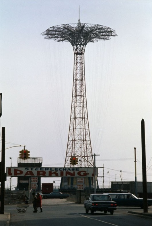 Parachute jump, Coney Island, Brooklyn, 1970