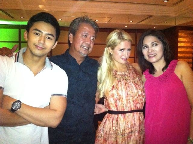 Enzo Pineda with Paris Hilton
