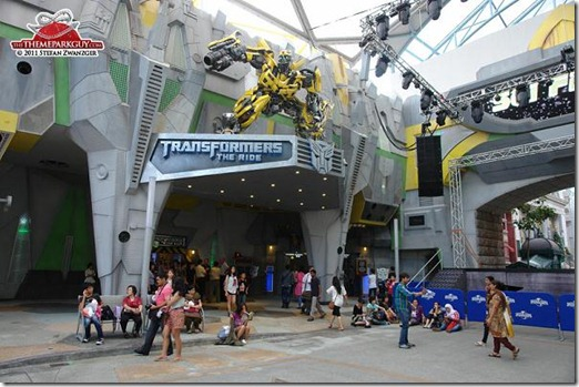 Entrance to the Transformers The Ride - Universal Studios Singapore