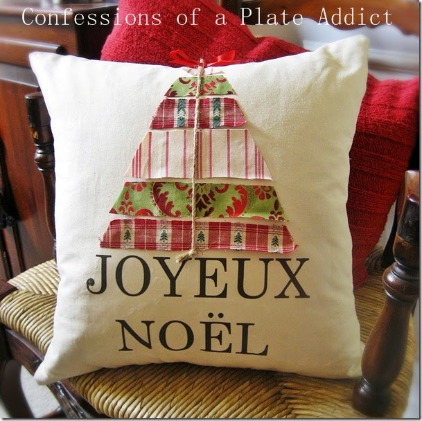 CONFESSIONS OF A PLATE ADDICT No-Sew Ballard Inspired Joyeux Noël Pillow