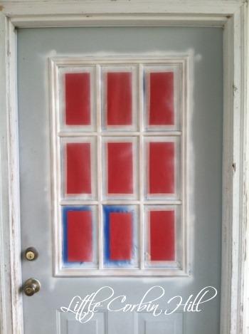 Painted door primed