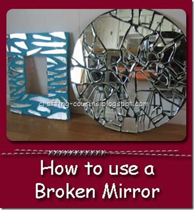 broken mirror side