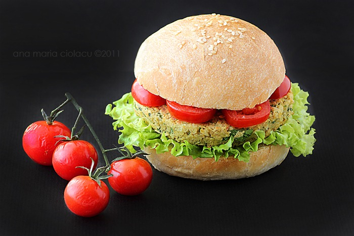 vegan chickpea burger 5