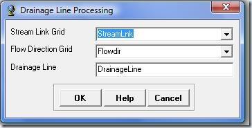 Ventana Drainage lines processing