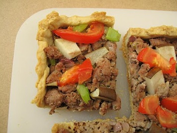 Sausage, Pear and Mustard Tart