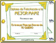 Diploma del dia de la madre infantil