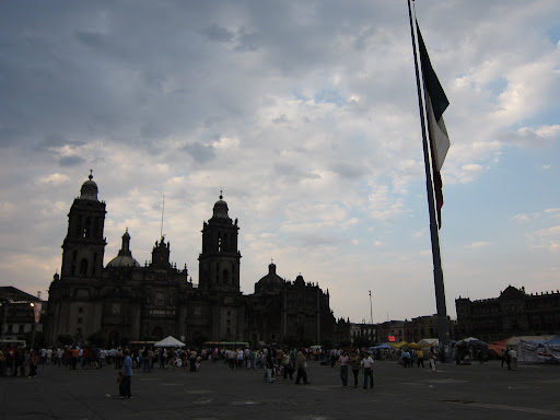 Mexico City's Cathedral, as seen from the Zocalo