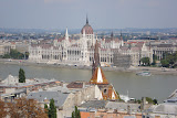 The Parliament building, on the shore of the Danube